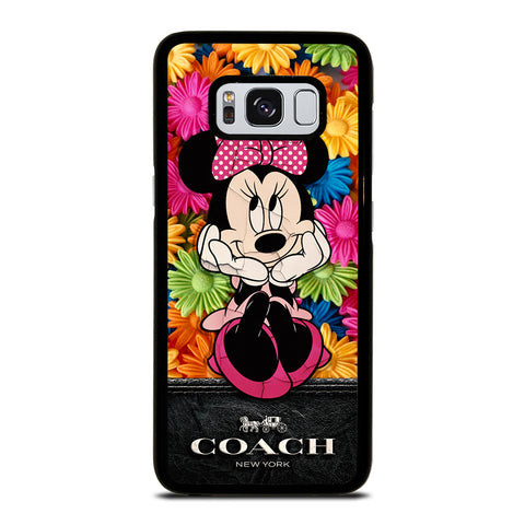 COACH MINNIE MOUSE FLOWER Samsung Galaxy S8 Case Cover