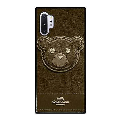 COACH NEW YORK BROWN BEAR Samsung Galaxy Note 10 Plus Case Cover