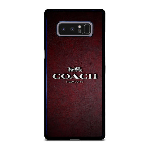 COACH NEW YORK LOGO LEATHER Samsung Galaxy Note 8 Case Cover