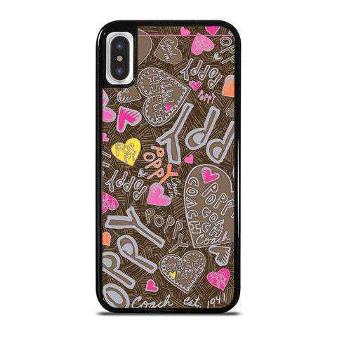 COACH NEW YORK NEW POOPY iPhone X / XS Case Cover