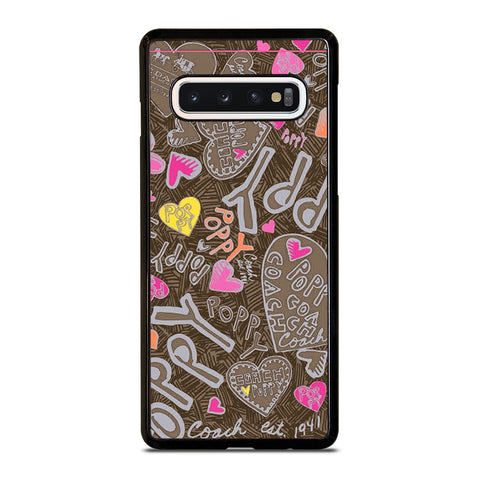 COACH NEW YORK NEW POOPY Samsung Galaxy S10 Case Cover