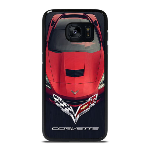 CORVETTE CAR RED LOGO Samsung Galaxy S7 Edge Case Cover