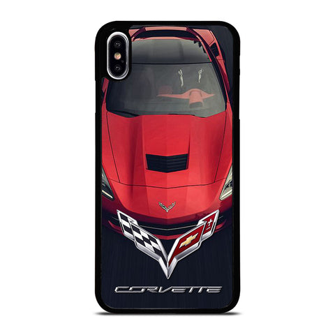 CORVETTE CAR RED LOGO iPhone XS Max Case Cover