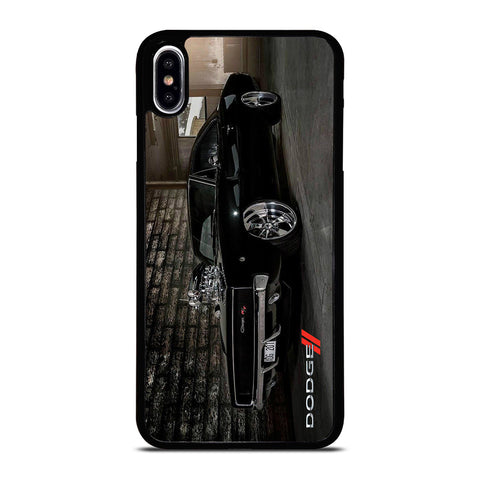 DODGE CHARGER BLACK CAR iPhone XS Max Case Cover