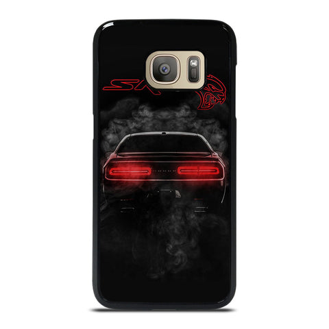 DODGE SRT CHALLENGER HELLCAT BLACK Samsung Galaxy S7 Case Cover