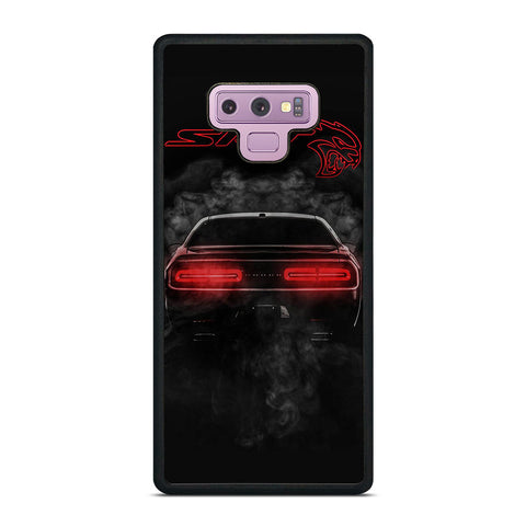 DODGE SRT CHALLENGER HELLCAT BLACK Samsung Galaxy Note 9 Case Cover