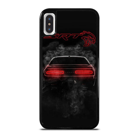 DODGE SRT CHALLENGER HELLCAT BLACK iPhone X / XS Case Cover