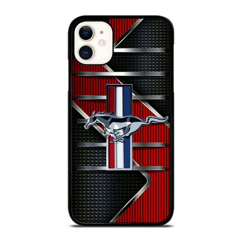 FORD MUSTANG METAL LOGO iPhone 11 Case Cover