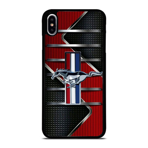 FORD MUSTANG METAL LOGO iPhone XS Max Case Cover