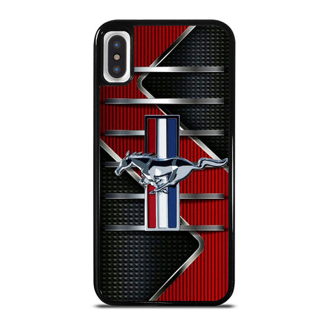 FORD MUSTANG METAL LOGO iPhone X / XS Case Cover