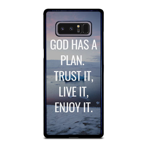 GOD HAS A PLAN QUOTE Samsung Galaxy Note 8 Case Cover