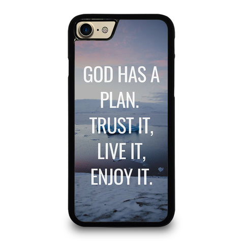 GOD HAS A PLAN QUOTE iPhone 7 / 8 Case Cover