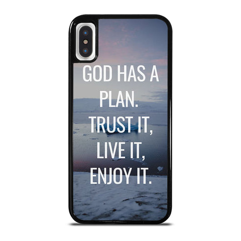 GOD HAS A PLAN QUOTE iPhone X / XS Case Cover