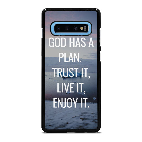 GOD HAS A PLAN QUOTE Samsung Galaxy S10 Plus Case Cover