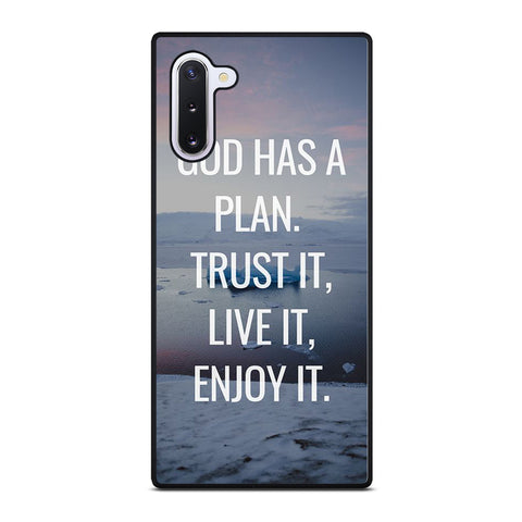 GOD HAS A PLAN QUOTE Samsung Galaxy Note 10 Case Cover