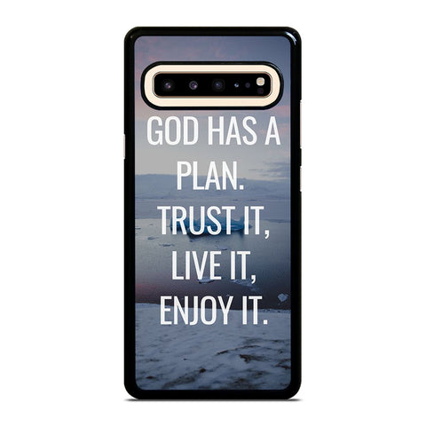 GOD HAS A PLAN QUOTE Samsung Galaxy S10 5G Case Cover