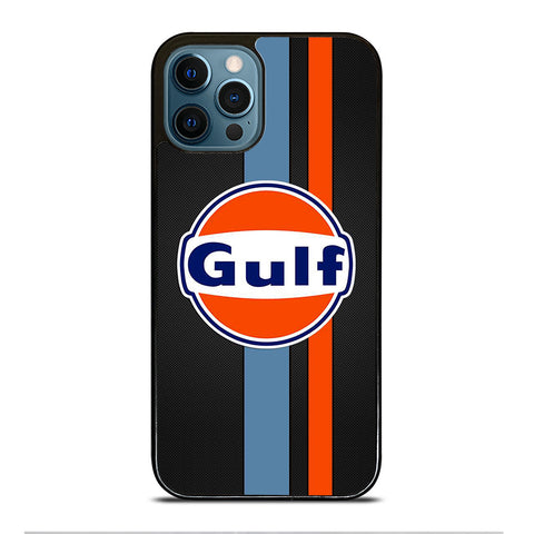 GULF OIL MOTOR CARBON LOGO iPhone 12 Pro Max Case Cover