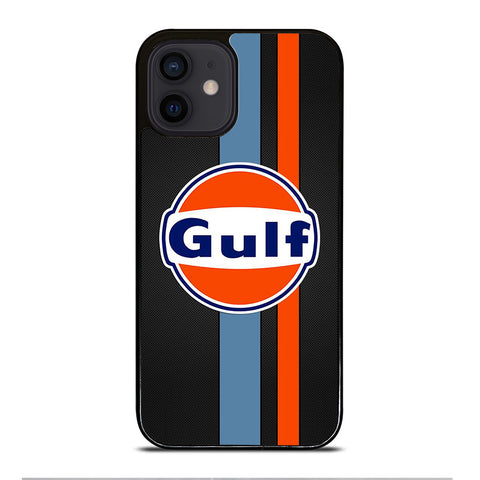GULF OIL MOTOR CARBON LOGO iPhone 12 Mini Case Cover