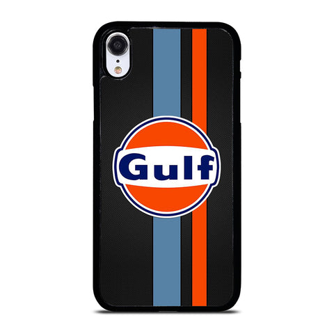 GULF OIL MOTOR CARBON LOGO iPhone XR Case Cover
