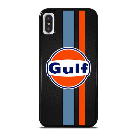 GULF OIL MOTOR CARBON LOGO iPhone X / XS Case Cover