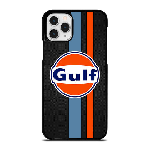 GULF OIL MOTOR CARBON LOGO iPhone 11 Pro Case Cover