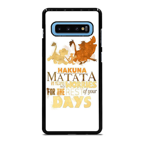HAKUNA MATATA QUOTE LION KING Samsung Galaxy S10 Plus Case Cover