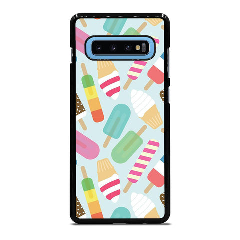 ICE CREAM COLLAGE ART PATTERN Samsung Galaxy S10 Plus Case Cover