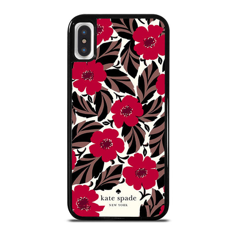 KATE SPADE FLOWER RED iPhone X / XS Case Cover