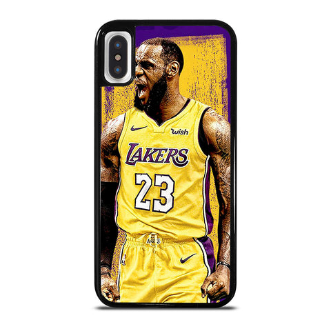 LEBRON JAMES LA LAKERS ART iPhone X / XS Case Cover
