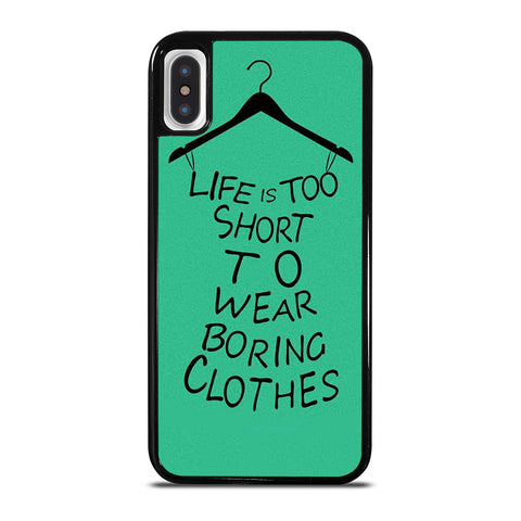 LIFE IS TOO SHORT QUOTE iPhone X / XS Case Cover