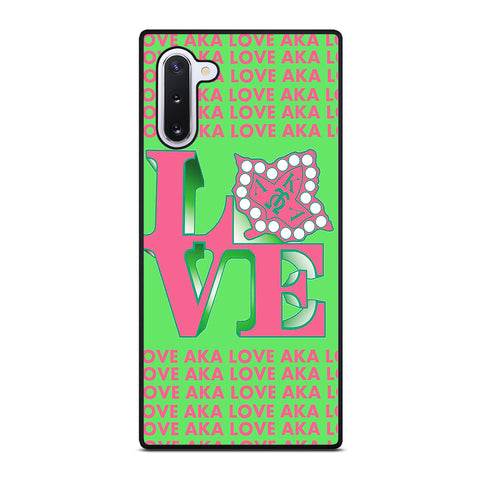 LOVE AKA PINK AND GREEN Samsung Galaxy Note 10 Case Cover