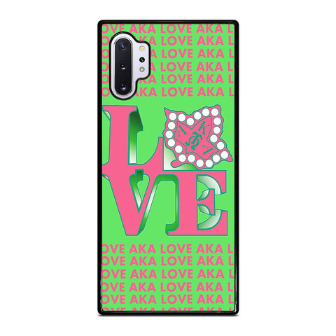 LOVE AKA PINK AND GREEN Samsung Galaxy Note 10 Plus Case Cover