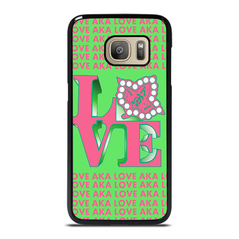 LOVE AKA PINK AND GREEN Samsung Galaxy S7 Case Cover