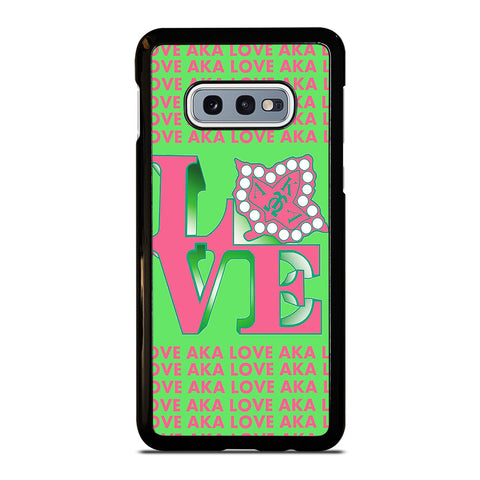 LOVE AKA PINK AND GREEN Samsung Galaxy S10e Case Cover