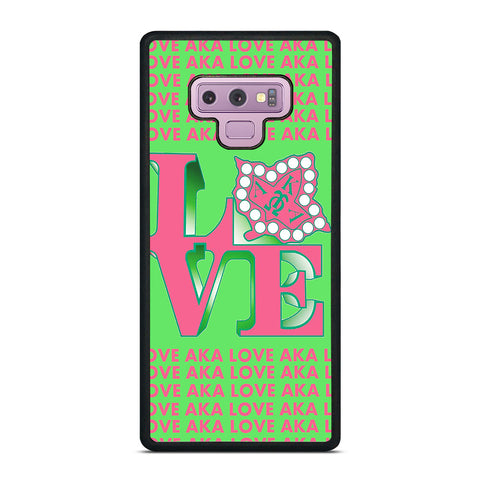 LOVE AKA PINK AND GREEN Samsung Galaxy Note 9 Case Cover