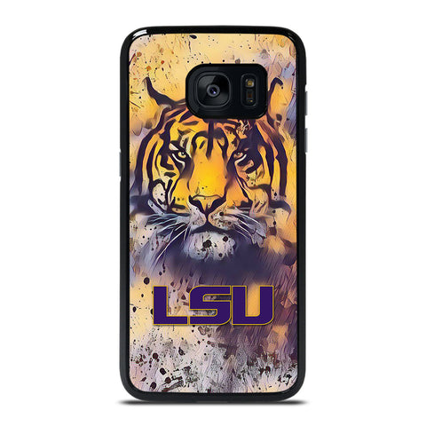 LSU TIGERS  ART LOGO Samsung Galaxy S7 Edge Case Cover