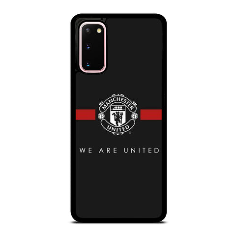 MANCHESTER UNITED BLACK Samsung Galaxy S20 Case Cover