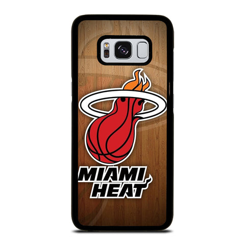 MIAMI HEAT WOODEN LOGO NBA Samsung Galaxy S8 Case Cover