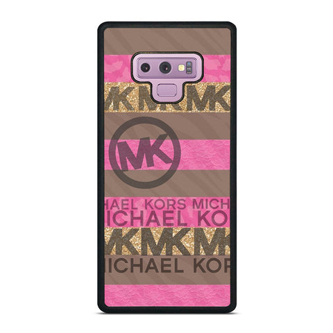 MICHAEL KORS PINK STRIP LOGO Samsung Galaxy Note 9 Case Cover