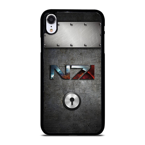 N7 MASS EFFECT METAL LOGO iPhone XR Case Cover