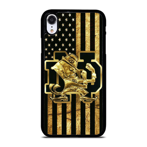 NOTRE DAME FIGHTING IRISH GOLD iPhone XR Case Cover