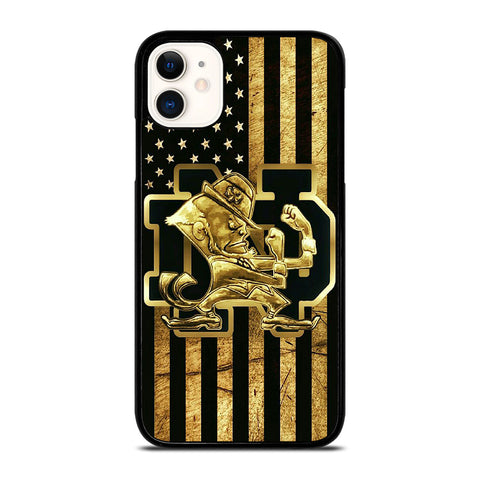 NOTRE DAME FIGHTING IRISH GOLD iPhone 11 Case Cover