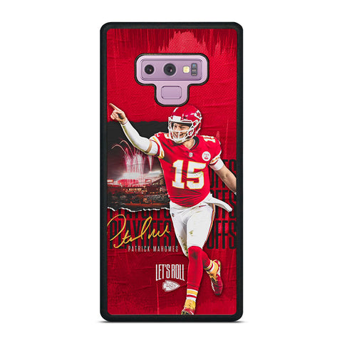 PATRICK MAHOMES KANSAS CITY CHIEFS Samsung Galaxy Note 9 Case Cover