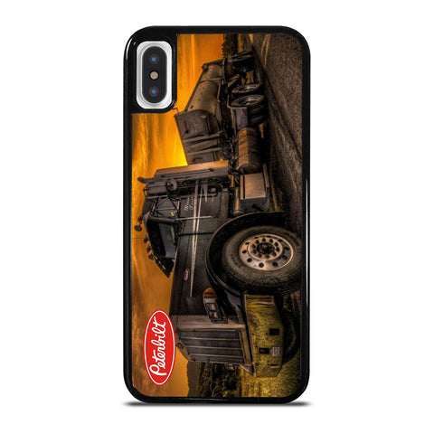 PETERBILT TRUCK BLACK iPhone X / XS Case Cover