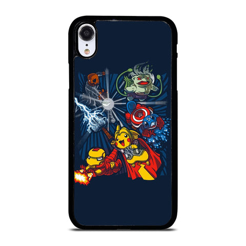 POKEMON AVENGERS CUTE iPhone XR Case Cover