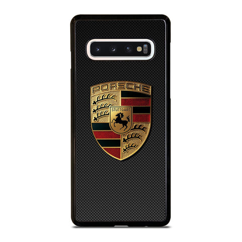 PORSCHE LOGO CARBON Samsung Galaxy S10 Case Cover