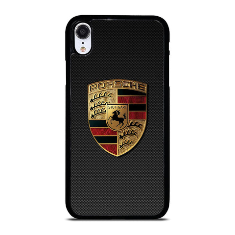 PORSCHE LOGO CARBON iPhone XR Case Cover