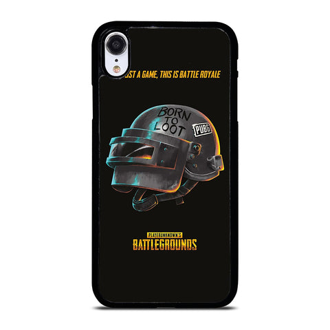 PUBG PLAYERUNKNOWN'S HELMET iPhone XR Case Cover
