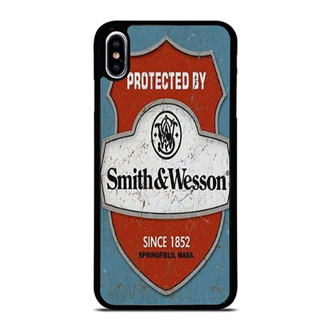 SMITH AND WESSON PISTOLS BADGE iPhone XS Max Case Cover