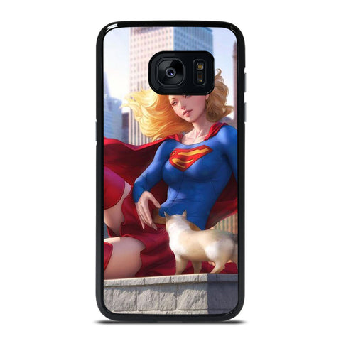 SUPERGIRL  DC CARTOON Samsung Galaxy S7 Edge Case Cover
